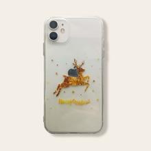 iPhone Schutzhuelle mit Weihnachten Elch & Buchstaben Grafik