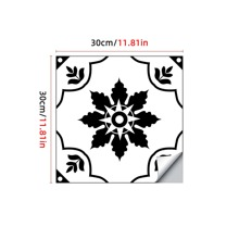 1pc Vintage Flower Pattern Floor Sticker
