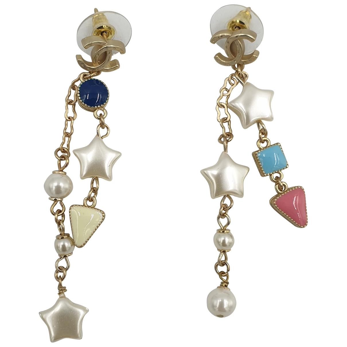Chanel - Boucles doreilles   pour femme en acier - multicolore