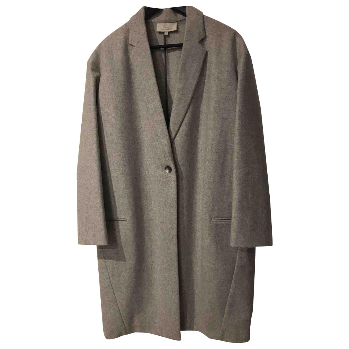 Studio Nicholson - Manteau   pour femme en laine - gris