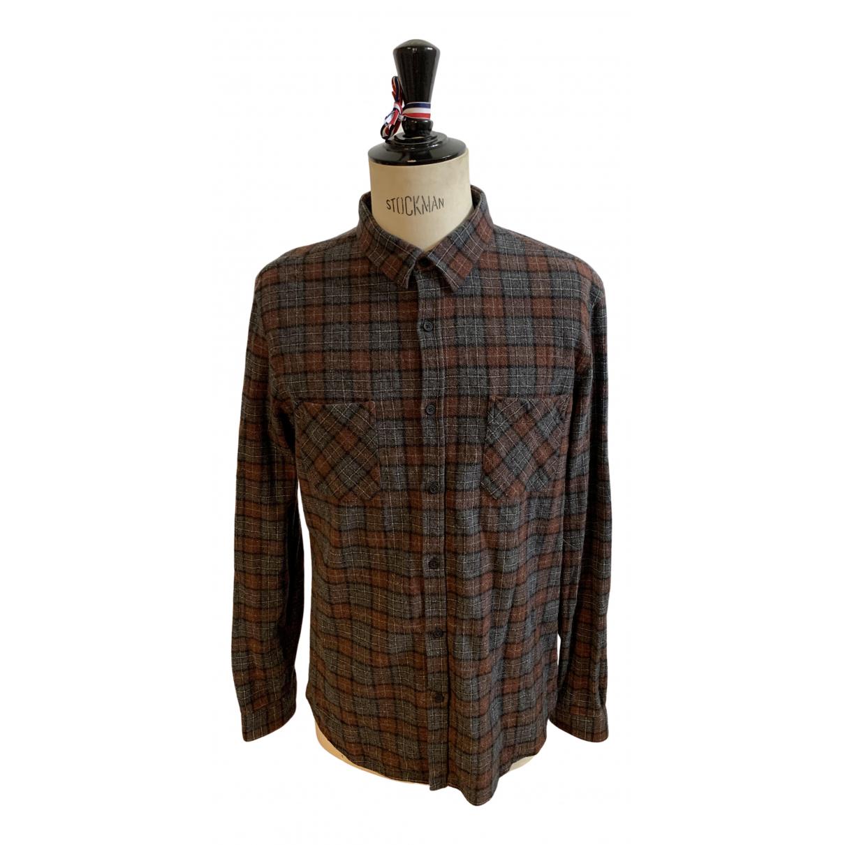 The Kooples - Chemises   pour homme en laine - marron