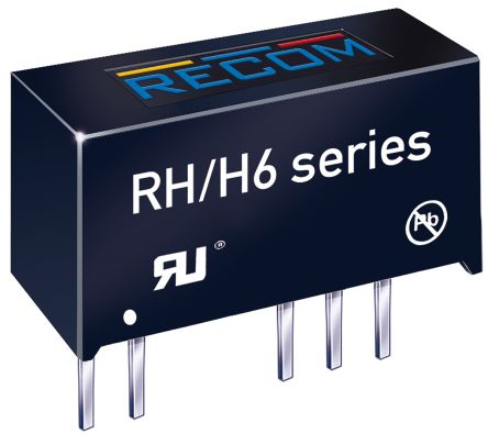 Recom RH 1W Isolated DC-DC Converter Through Hole, Voltage in ±21.6 V dc, ±26.4 V dc, Voltage out ±5V dc