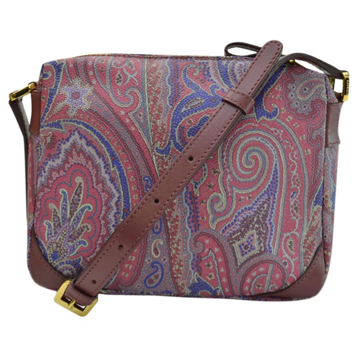Etro \N Handtasche in  Bordeauxrot Leinen
