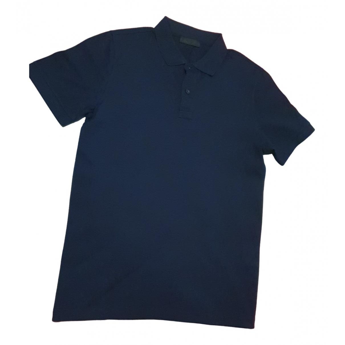 Prada - Polos   pour homme en coton - marine