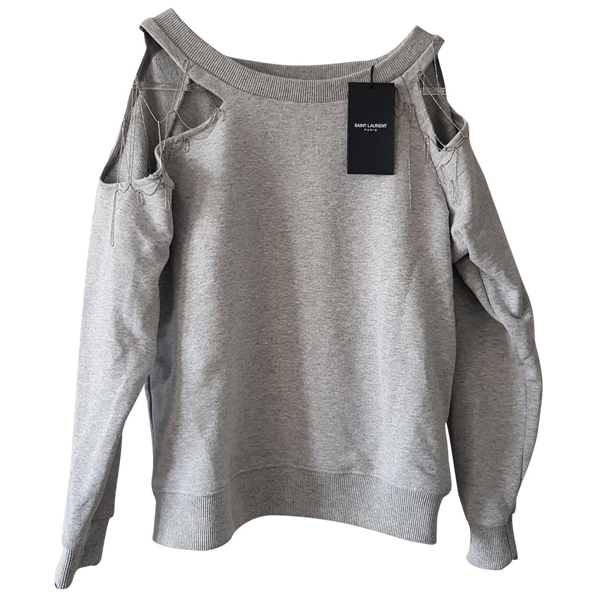 Saint Laurent \N Grey Cotton Knitwear for Women S International