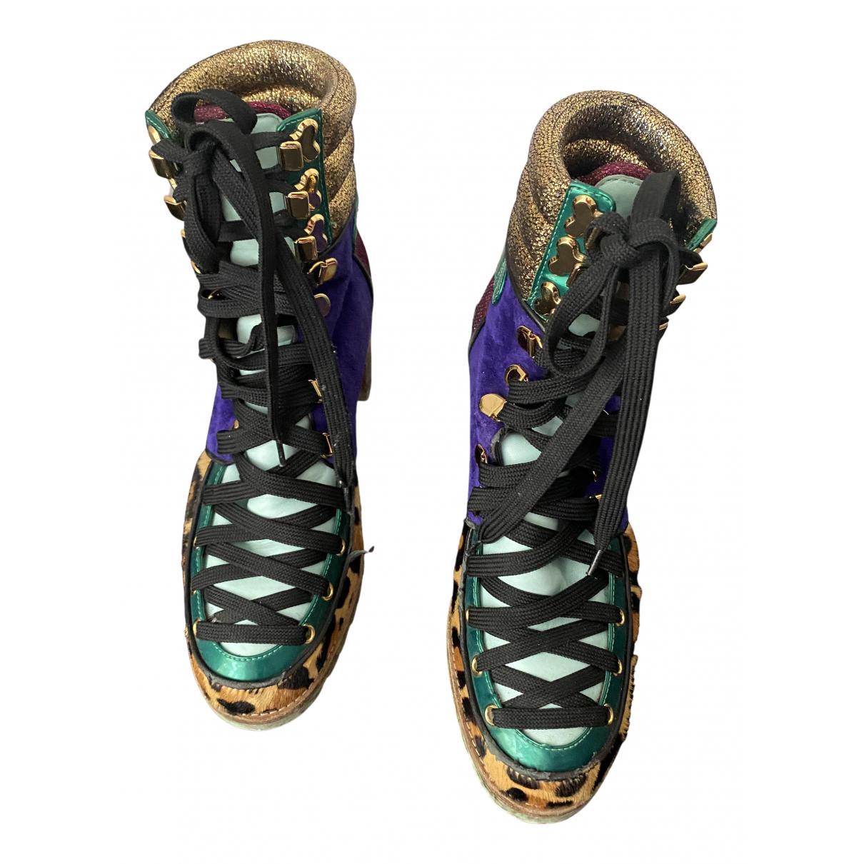 Christian Louboutin - Bottes   pour femme en cuir - multicolore