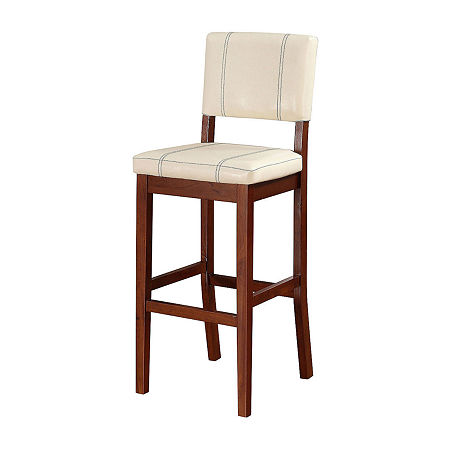 Milano Upholstered Bar Stool, One Size , Black