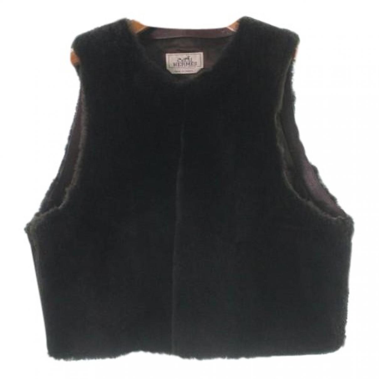 Hermes \N Pullover.Westen.Sweatshirts  in  Braun Fell