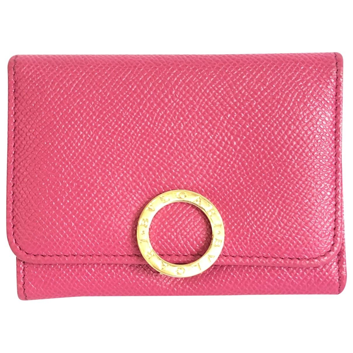 Bvlgari \N Portemonnaie in  Rosa Leder