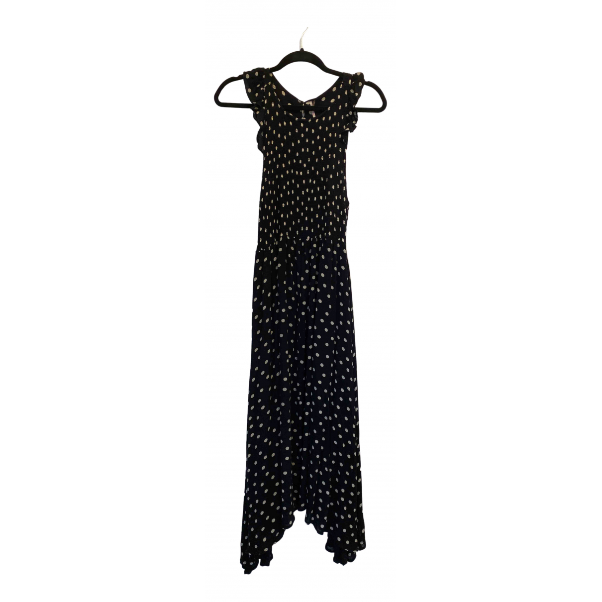 Free People \N Black Cotton - elasthane dress for Women 4 US