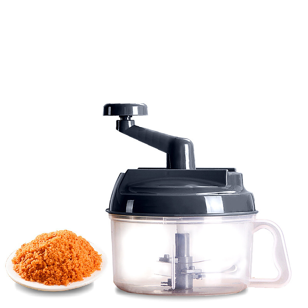 1500ml Manual Meat Grinders Vegetable Cutter Food Processor Chopper Container for Kitchen Tool