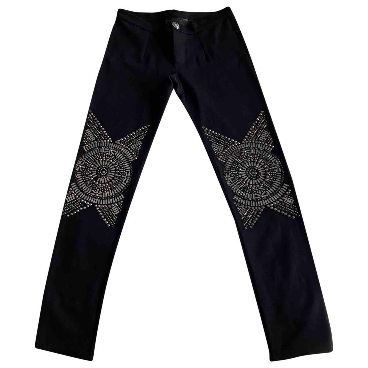 Philipp Plein - Pantalon   pour femme en toile - noir