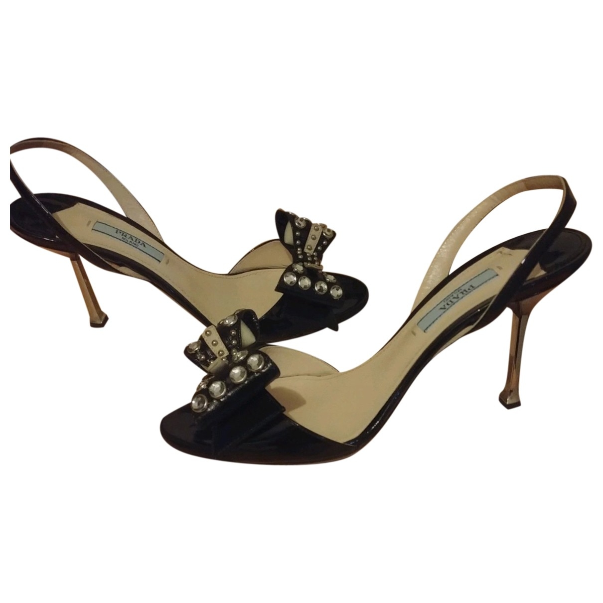 Prada \N Black Patent leather Sandals for Women 37 EU