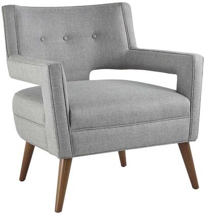 Sheer Collection EEI-2142-LGR Armchair with Non-Marking Foot Glides  Cherry Stained Beech Wood Tapered Legs  Dense Foam Padding and Polyester Fabric