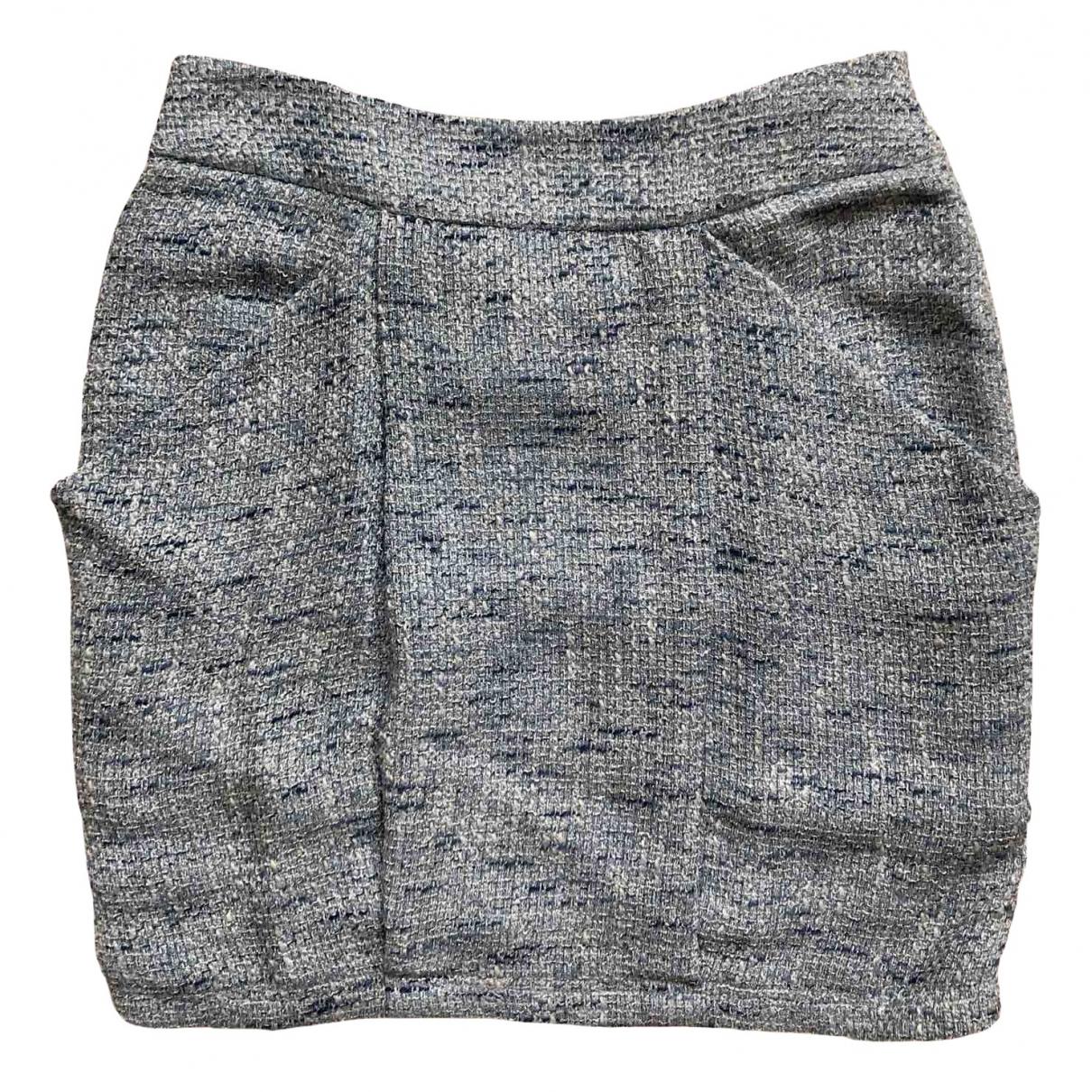 Armani Collezioni N Blue Tweed skirt for Women 40 IT