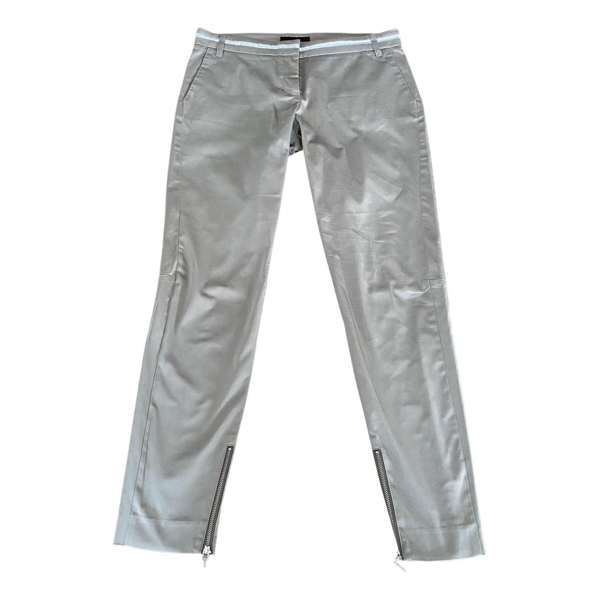 Fabiana Filippi N Beige Cotton Trousers for Women 44 IT
