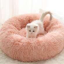 1 Stueck Katze rundes Bett