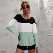 Cut And Sew High Low Sweater