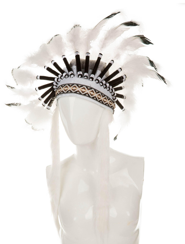 Kostuemzubehor Indianerkopfschmuck Nahele Farbe: schwarz/weiss
