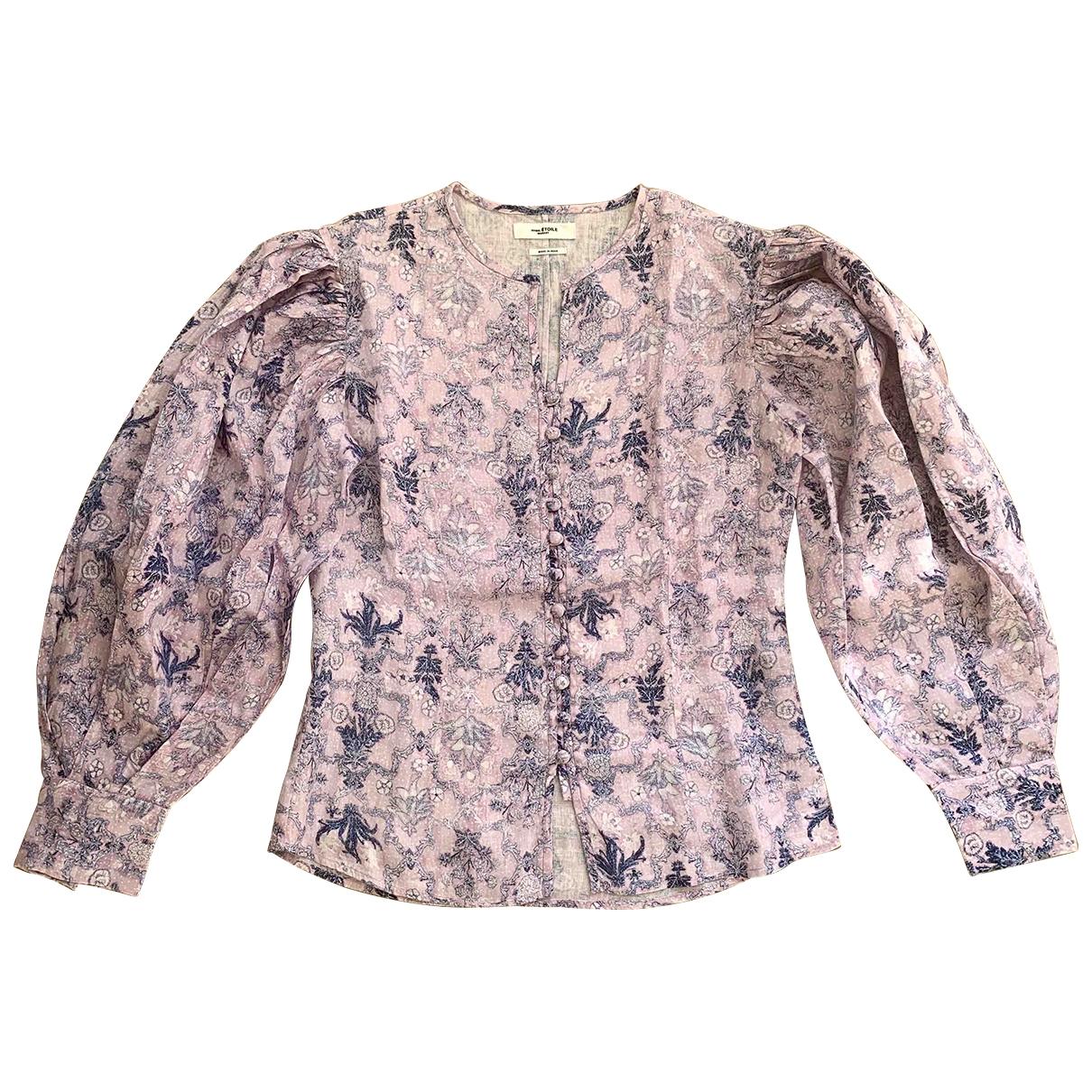 Isabel Marant Etoile \N Pink Linen  top for Women 40 FR