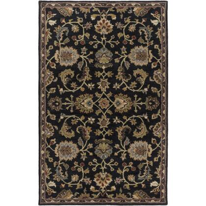 AWMD1000-58 5' x 8' Rug  in Navy and Dark Green and Light Gray and Dark Brown and