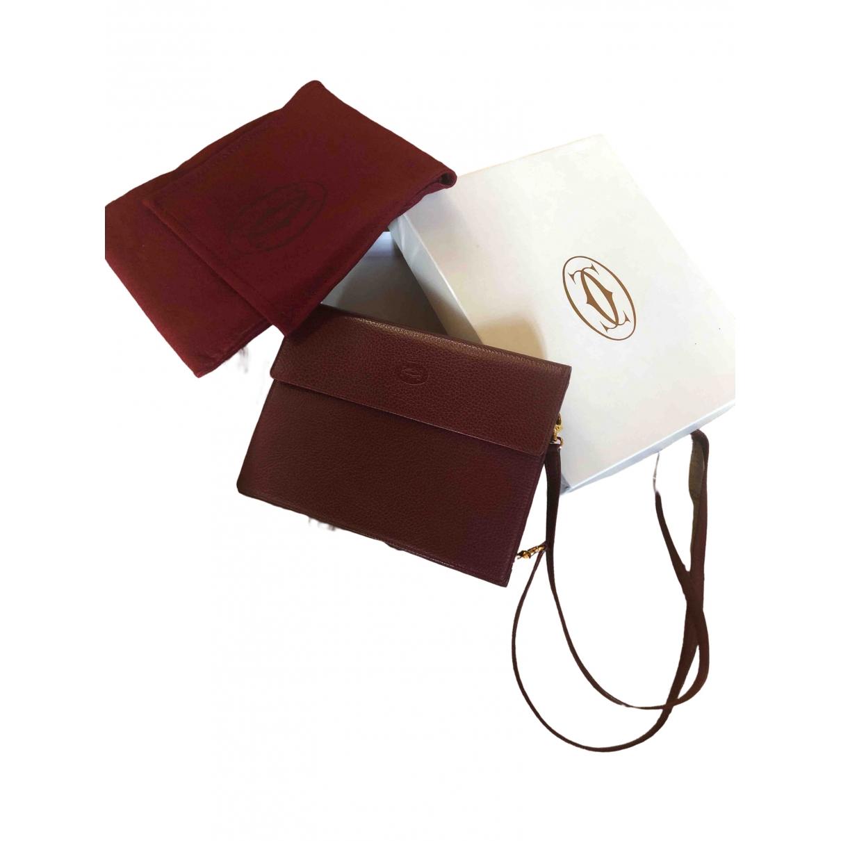 Cartier \N Burgundy Leather Small bag, wallet & cases for Men \N