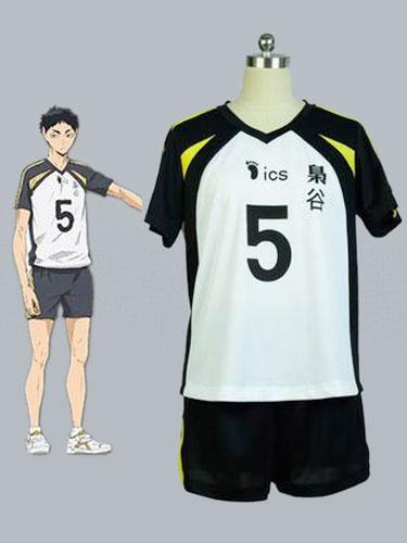 Milanoo Haikyuu!! Fukurodani Academy Akaashi Keiji Cosplay Costume NO.5 Volleyball Jersey Halloween
