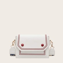Embroidered Detail Crossbody Bag