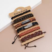 6pcs Men Braided Bracelet