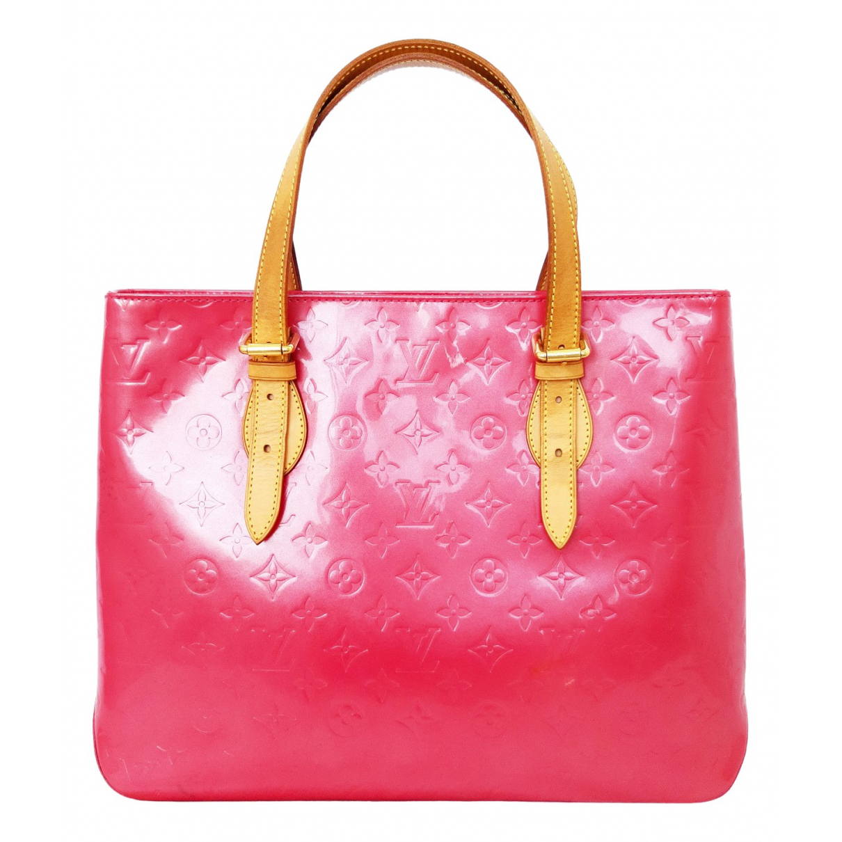 Louis Vuitton Brentwood Pink Patent leather handbag for Women \N