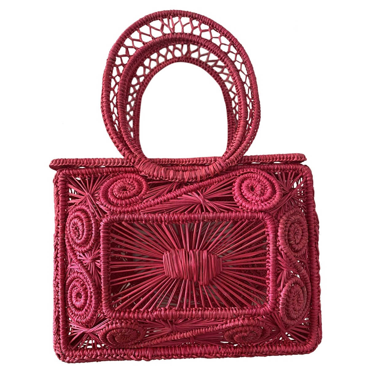 Non Signe / Unsigned \N Handtasche in Stroh