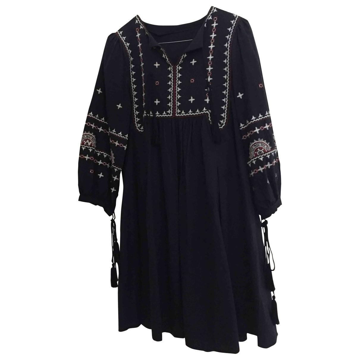 - Robe Hippie Chic pour femme en coton - bleu