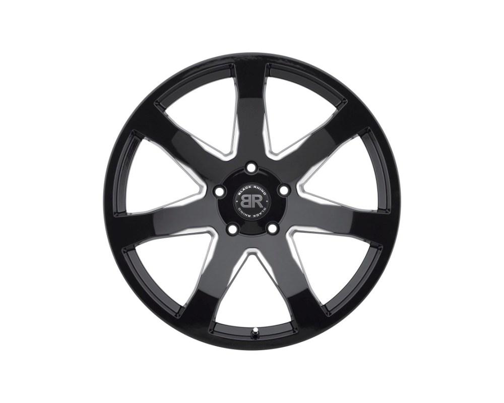 Black Rhino Mozambique Gloss Black w/ Milled Spokes Wheel 22x9.5 5x139.70|5x5.5 20mm CB78