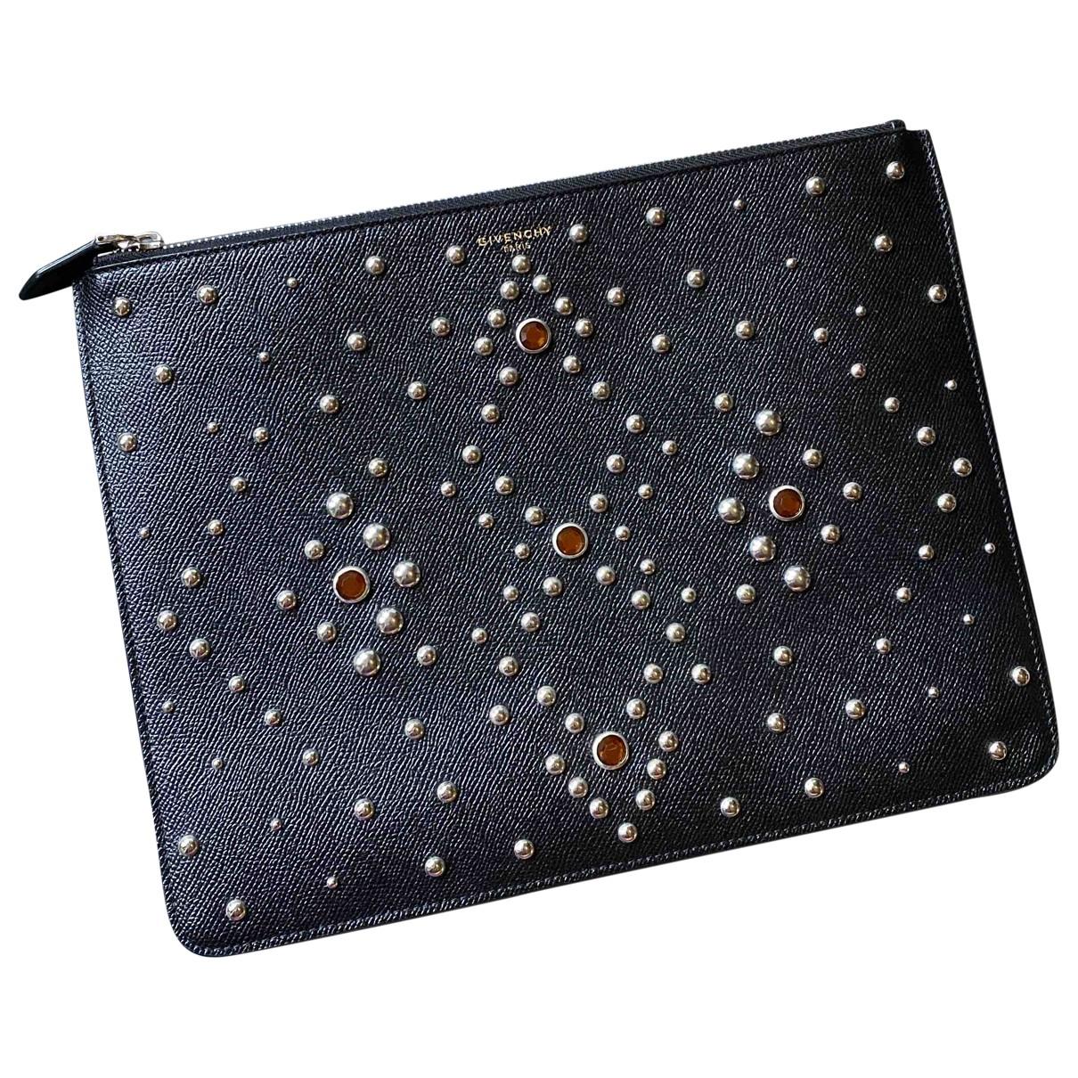 Givenchy \N Kleinlederwaren in  Schwarz Leder