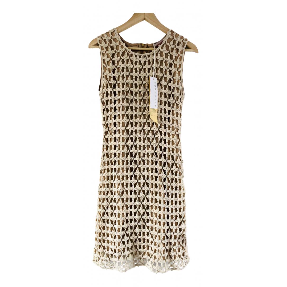Stefanel \N Kleid in  Beige Baumwolle