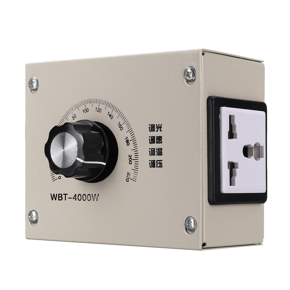 AC 0-220V 4000W Adjustable Voltage Speed Temperature Dimmer Controller For Thermostat Light Fan Motor Dimmer