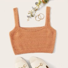 Flaumiges Strick Cami Top