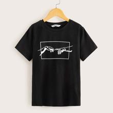 Jungen T-Shirt mit Figur Grafik