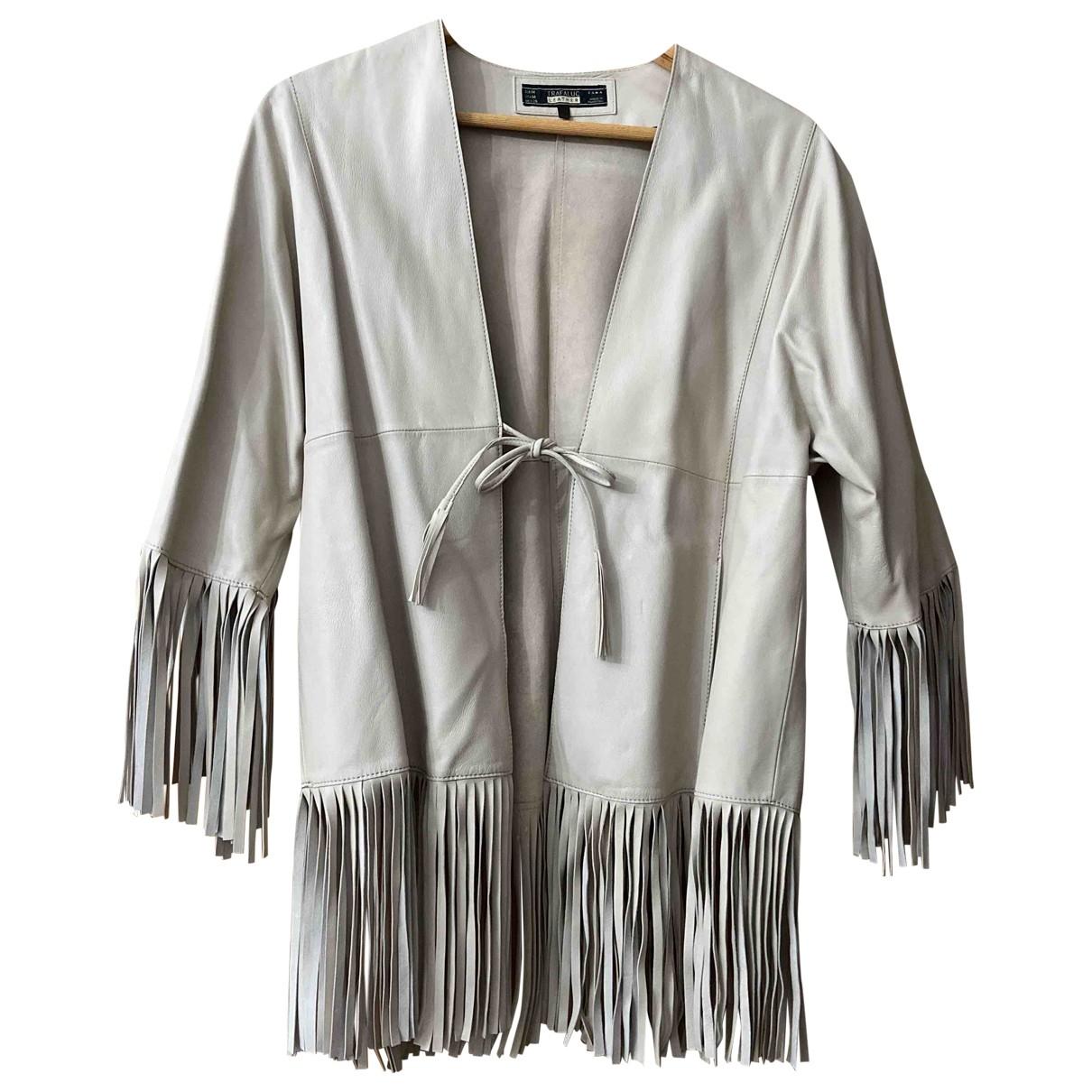 Chaqueta larga de Cuero Zara