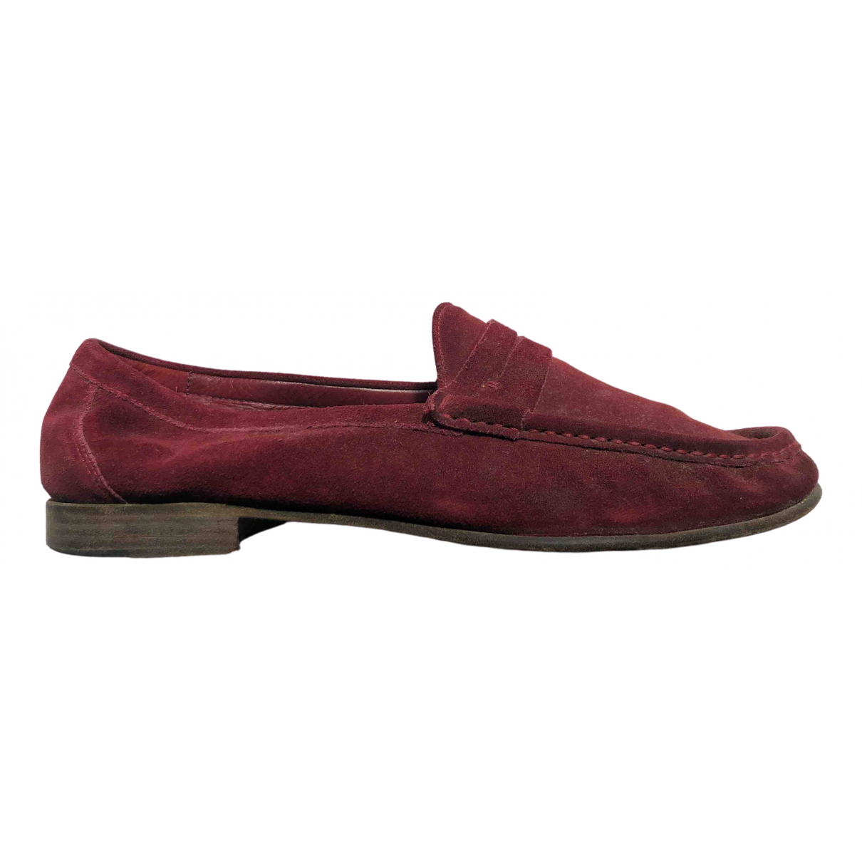 Sergio Rossi \N Burgundy Suede Flats for Men 44 EU