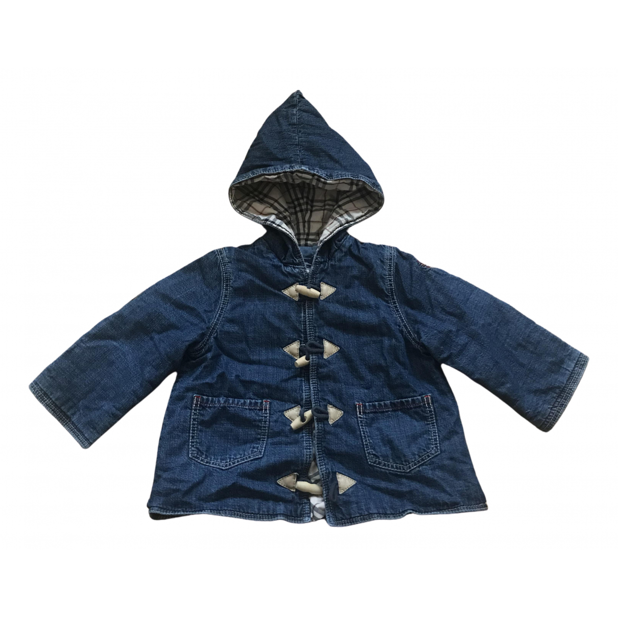 Burberry \N Jacke, Maentel in  Blau Denim - Jeans