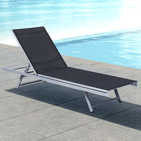 Patio Lounge Chair, One Size , Black