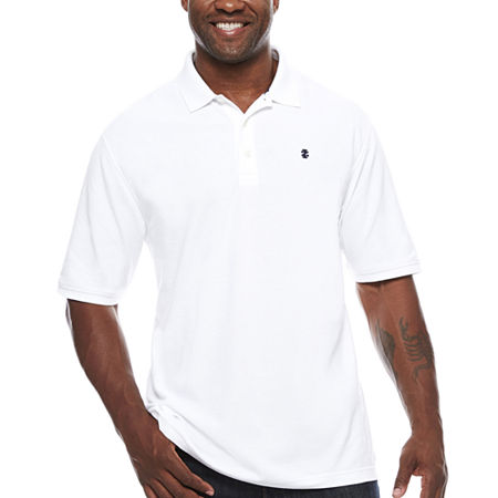 IZOD Mens Short Sleeve Polo Shirt Big and Tall, 2x-large Tall , White