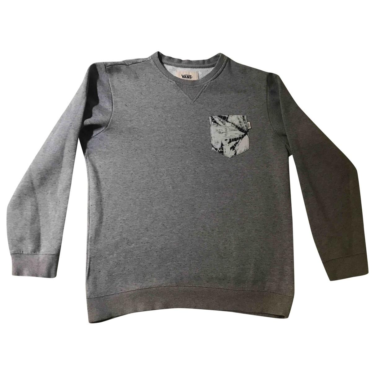 Vans \N Pullover.Westen.Sweatshirts  in  Grau Baumwolle