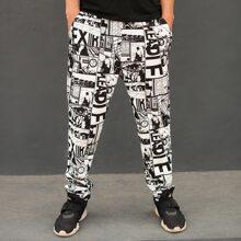 Pantalones deportivos con estampado de arte pop
