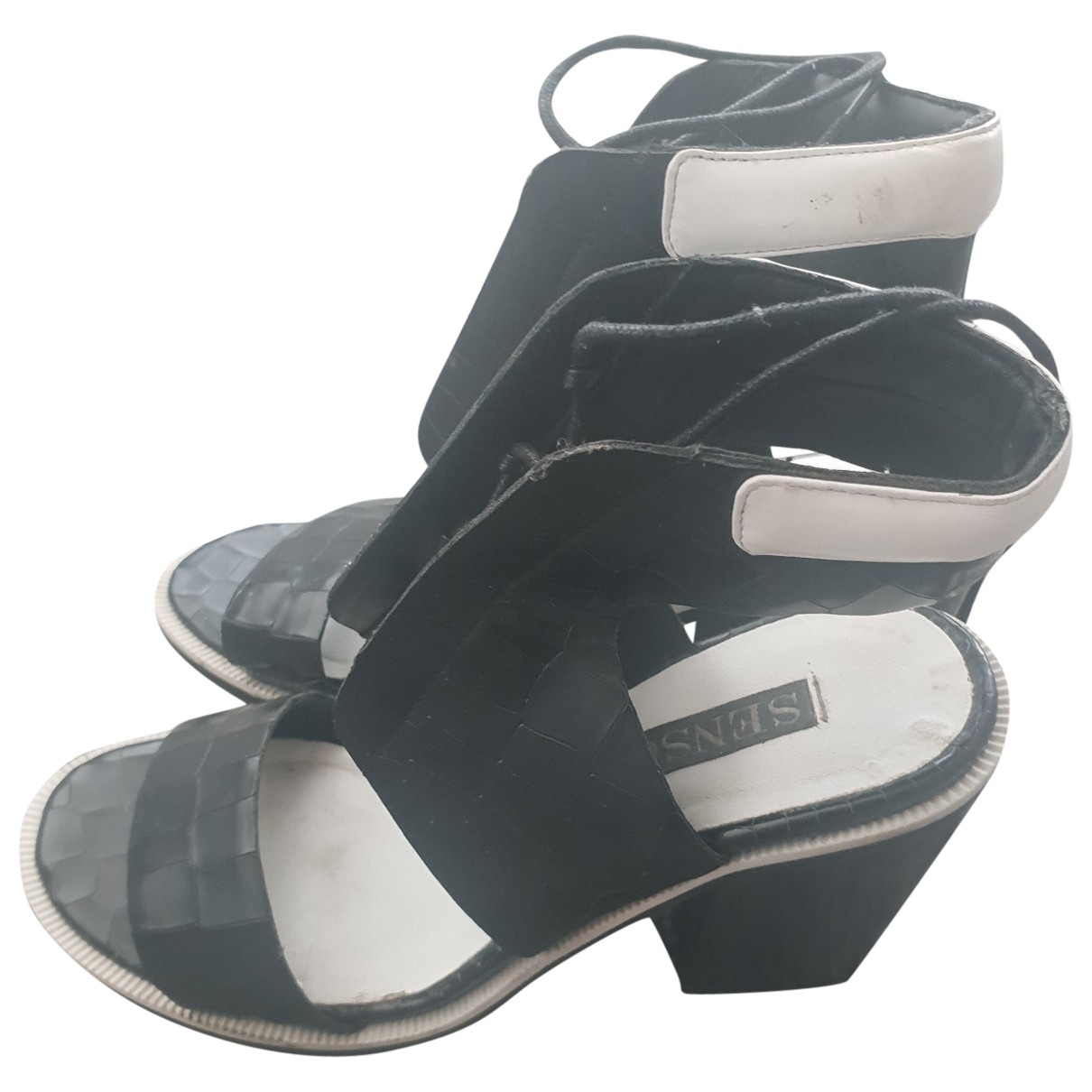 Kenzo \N Black Patent leather Sandals for Women 37 EU