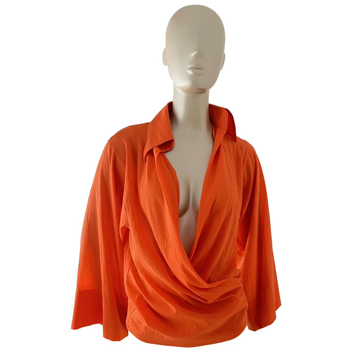 Dolce & Gabbana \N Orange Silk  top for Women 38 IT