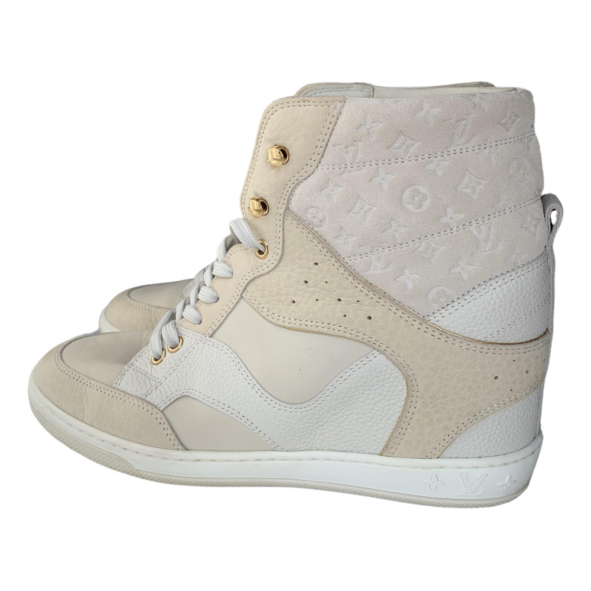 Louis Vuitton \N White Leather Trainers for Women 37.5 EU