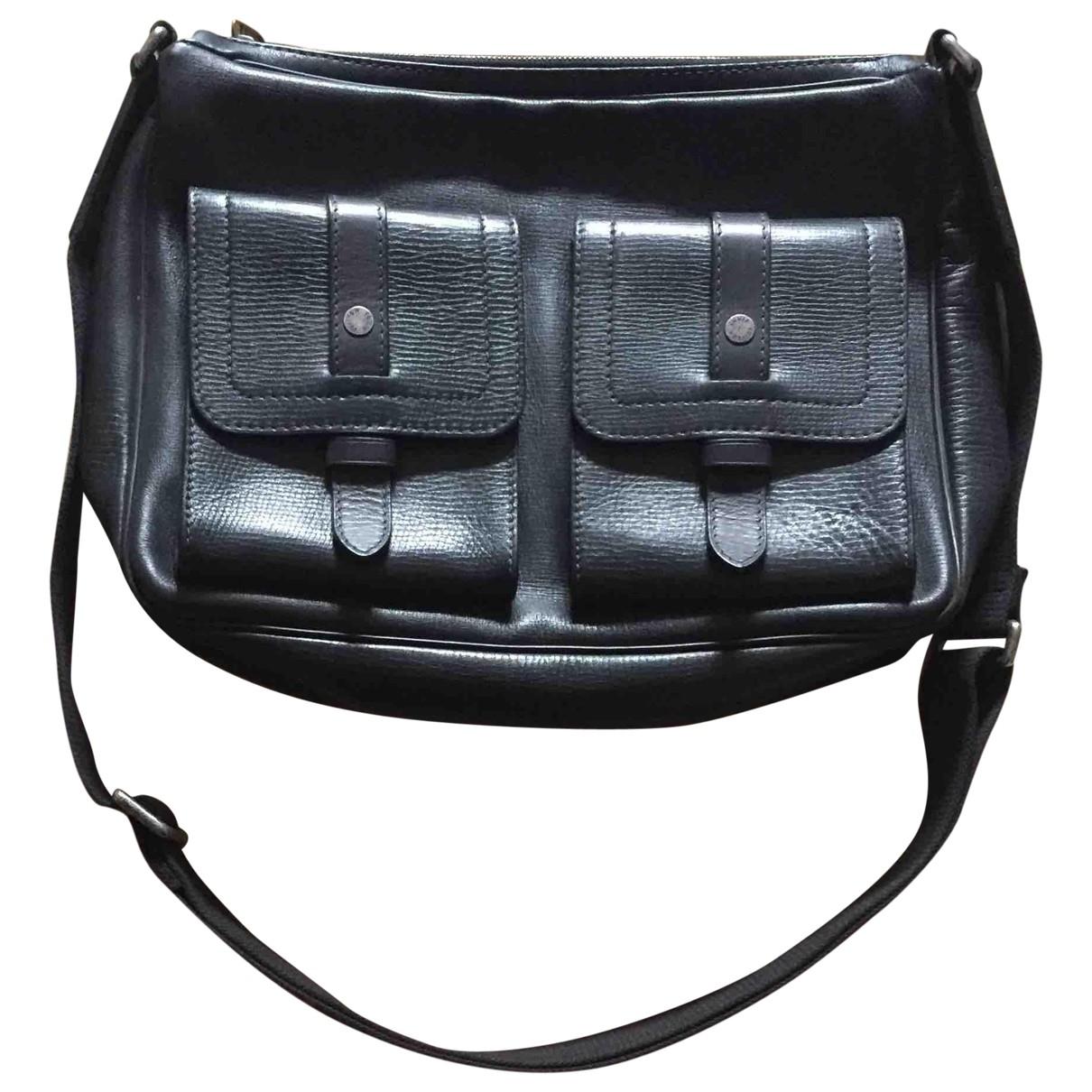 Louis Vuitton - Sac Utah  pour homme en cuir - noir