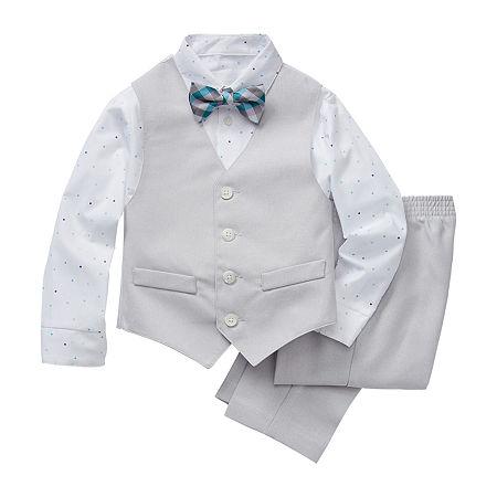 Van Heusen Toddler Boys 4-pc. Suit Set, 2t , Gray